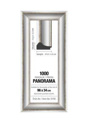 Art Puzzle 1000'lik Beyaz Panorama 96 x 34 cm Puzzle Çerçevesi (43 mm)