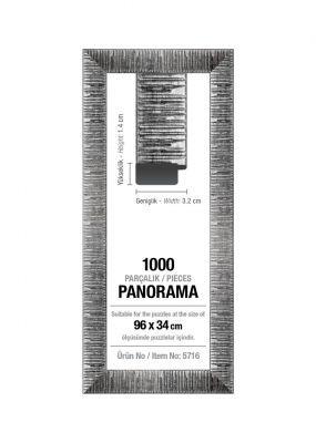 Art Puzzle 1000'lik Gümüş Panorama 96 x 34 cm Puzzle Çerçevesi (30 mm)