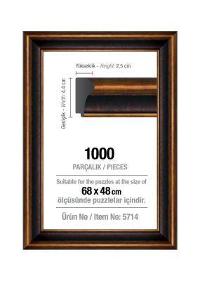 Art Puzzle 1000'lik Kahverengi 68 x 48 cm Puzzle Çerçevesi (43 mm)