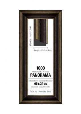 Art Puzzle 1000'lik Siyah Panorama 96 x 34 cm Puzzle Çerçevesi (43 mm)