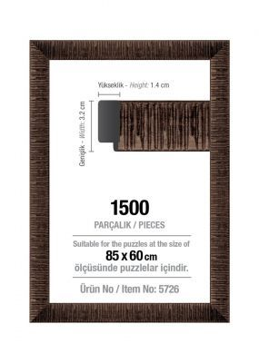 Art Puzzle 1500'lük Kahverengi 85 x 60 cm Puzzle Çerçevesi (30 mm)