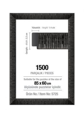 Art Puzzle 1500'lük Siyah 85 x 60 cm Puzzle Çerçevesi (30 mm)