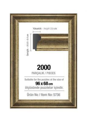Art Puzzle 2000'lik Gümüş 96 x 68 cm Puzzle Çerçevesi (43 mm)