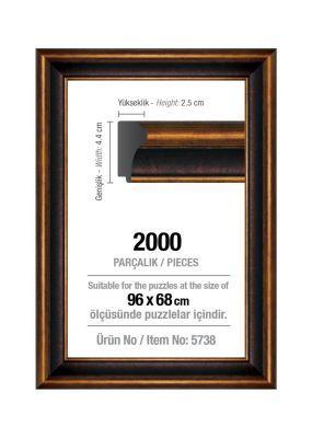 Art Puzzle 2000'lik Kahverengi 96 x 68 cm Puzzle Çerçevesi (43 mm)