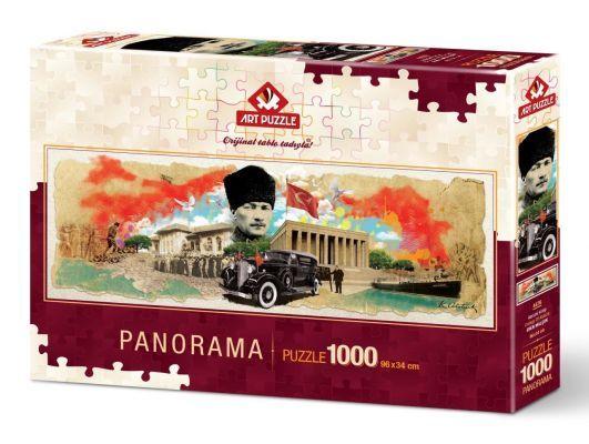 Art Puzzle Atatürk Kolajı 1000 Parça Panorama