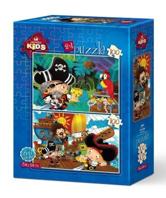 Art Puzzle Korsanlar 2'li 100+100 Parça Yapboz