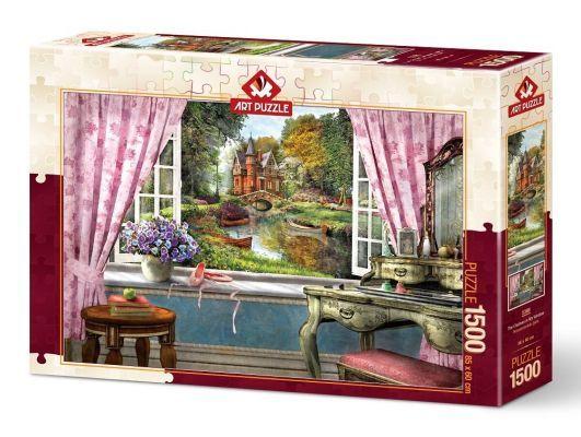 Art Puzzle Penceremdeki Şato 1500 Parça Puzzle