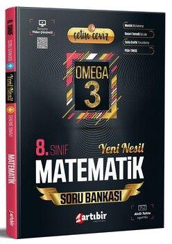 Artıbir Yayınları 8. Sınıf LGS Matematik Çetin Ceviz Omega 3 Soru Bankası