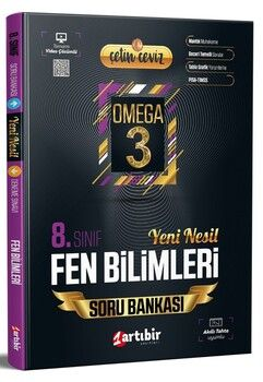Artıbir Yayınları 8. Sınıf LGS Fen Bilimleri Çetin Ceviz Omega 3 Soru Bankası