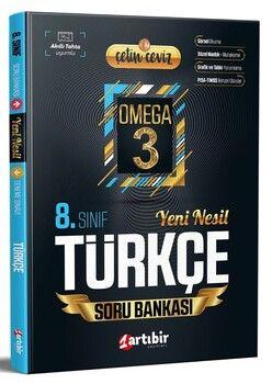 Artıbir Yayınları 8. Sınıf LGS Türkçe Çetin Ceviz Omega 3 Soru Bankası