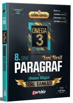 Artıbir Yayınları 8. Sınıf LGS Paragraf Çetin Ceviz Omega 3 Soru Bankası