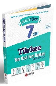 Artıbir Yayınları 7. Sınıf Türkçe SoloTürk Yeni Nesil Soru Bankası