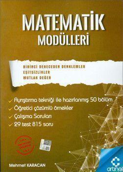 Artınet Yayınları Matematik Modülleri 1. Derece Denklemler Eşitsizlikler Mutlak Değer