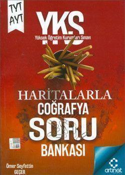 Artınet Yayınları TYT AYT Haritalarla Coğrafya Soru Bankası