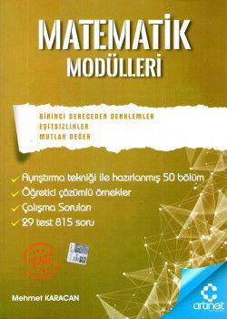 Artınet Yayınları Matematik Modülleri 1. Dereceden Denklemler Eşitsizlik Mutlak Değer