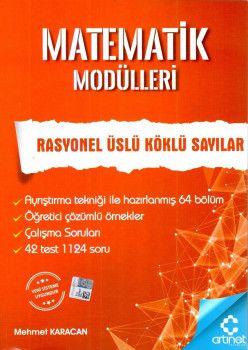 Artınet Yayınları Matematik Modülleri Rasyonel Üslü Köklü Sayılar