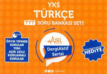 Asel Yayınları YKS 1. Oturum TYT Türkçe Soru Bankası Seti Dergi Aktif Serisi