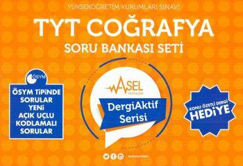 Asel Yayınları YKS 1. Oturum TYT Coğrafya Soru Bankası Seti Dergi Aktif Serisi