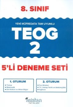 Asistan Yayınları 8. Sınıf TEOG 2 Deneme Seti 5 li