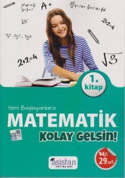 Asistan Yayınları Yeni Başlayanlara Matematik 1 Kitap Kolay Gelsin