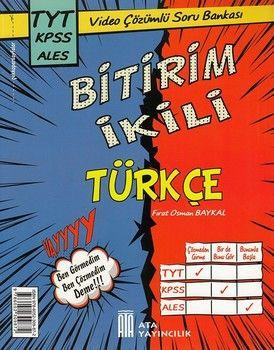 Ata Yayıncılık Türkçe TYT KPSS ALES Bitirim İkili Video Çözümlü Soru Bankası