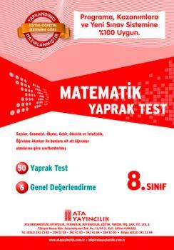 Ata Yayıncılık 8. Sınıf Matematik Yaprak Test