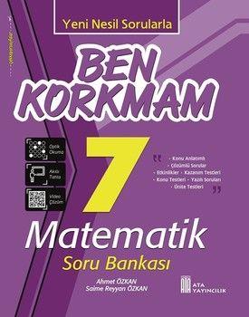 Ata Yayıncılık 7. Sınıf Matematik Ben Korkmam Soru Bankası