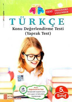 Ata Yayıncılık 5. Sınıf Türkçe Konu Değerlendirme Testi