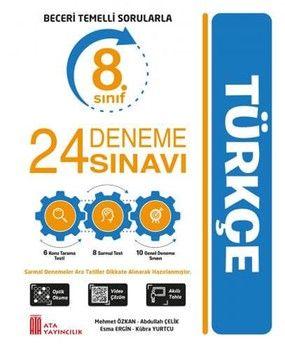 Ata Yayıncılık 8. Sınıf Türkçe 24 Deneme