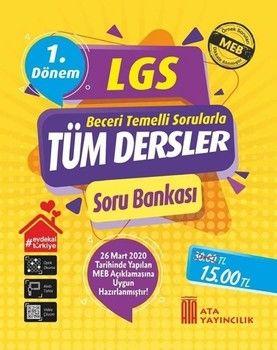 Ata Yayıncılık 8. Sınıf LGS 1. Dönem Tüm Dersler Soru Bankası