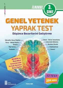 Ata Yayıncılık 3. Sınıf Bilsem Genel Yetenek Yaprak Test