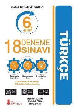 Ata Yayıncılık 6. Sınıf Türkçe Beceri Temelli Sorularla 18 Deneme