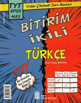 Ata Yayıncılık TYT KPSS ALES Bitirim İkili Türkçe Video Çözümlü Soru Bankası