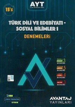 Avantaj Yayınları AYT Türk Dili ve Edebiyatı Sosyal Bilimler 1 15 li Denemeleri