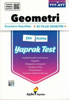 Aydın Yayınları TYT AYT Geometri Çek Kopar Yaprak Test
