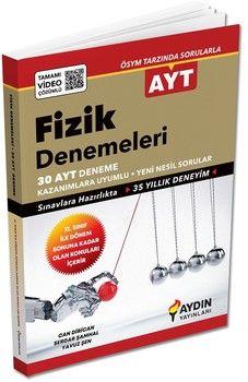 Aydın Yayınları AYT Fizik İlk Dönem 30 lu Özel Denemeleri