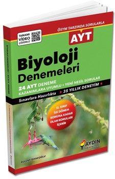 Aydın Yayınları AYT Biyoloji İlk Dönem 24 lu Özel Denemeleri