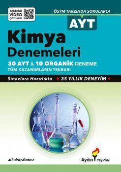 Aydın Yayınları AYT Kimya Tamamı Video Çözümlü  Denemeleri