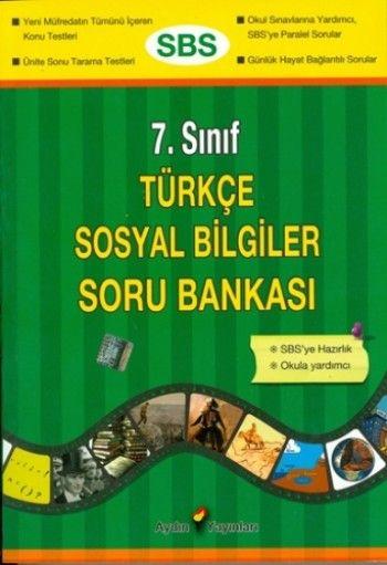 Aydın Yayınları 7. Sınıf Türkçe Sosyal Bilgiler Soru Bankası