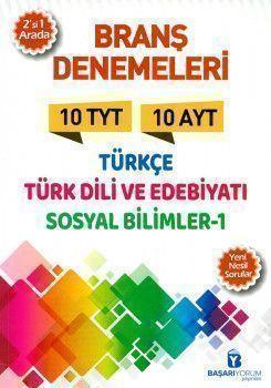 Başarıyorum Yayınları TYT AYT Türkçe Türk Dili ve Edebiyatı Sosyal Bilimler 1 Branş Denemeleri