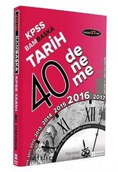 Başka Yayıncılık KPSS Tarih Bambaşka 40 Deneme