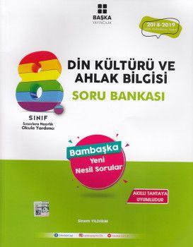 Başka Yayıncılık 8. Sınıf Din Kültürü ve Ahlak Bilgisi Soru Bankası