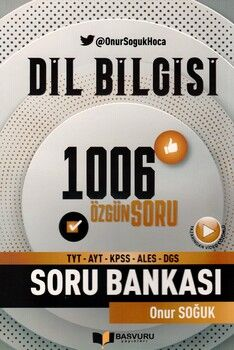 Başvuru Yayınları TYT AYT KPSS ALES DGS Dil Bilgisi 1006 Özgün Soru