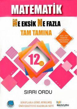 Başvuru Yayınları 12. Sınıf Matematik Ne Eksik Ne Fazla Tam Tamına Soru Bankası