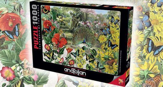 Bahçedeki Tavuskuşu / Peacock in the Garden 1000 Parça Puzzle - Yapboz
