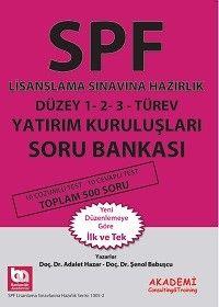 Bankacılık Akademisi SPF Lisanslama Sınavına Hazırlık Düzey 1-2-3 Türev Yatırım Kuruluşları Soru Bankası