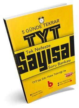 Basamak Yayınları TYT Sayısal Tek Nefeste 5 Günde Soru Bankası