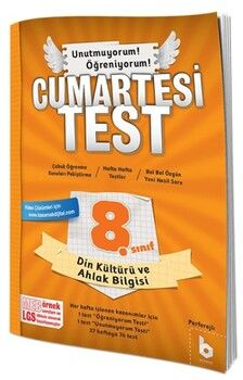 Basamak Yayınları 8. Sınıf LGS Din Kültürü ve Ahlak Bilgisi Cumartesi Test