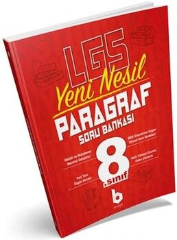 Basamak Yayınları 8. Sınıf LGS Yeni Nesil Paragraf Soru Bankası