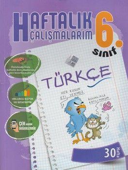 Batı Akademi Yayınları 6. Sınıf Türkçe Haftalık Çalışmalarım 30 Hafta